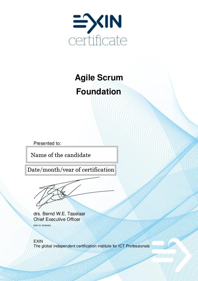 Intellectknowledge Certified Agile scrum masters sample certification