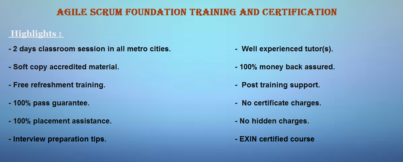 Agile scrum foundation virtual classroom certification training in ...