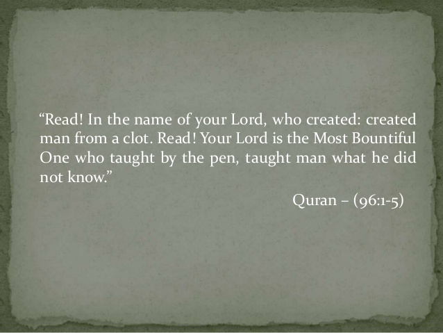 Read! In the name of Lord.